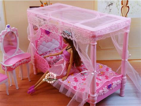 how to make a barbie doll bedroom princess bed dresser chair set dollhouse furniture