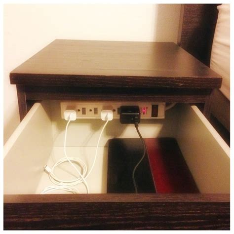 Diy Nightstand Charging Station | diy charging station in nightstand banish clutter