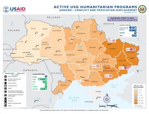 map ukraine conflict ukraine conflict and population displacement last updated