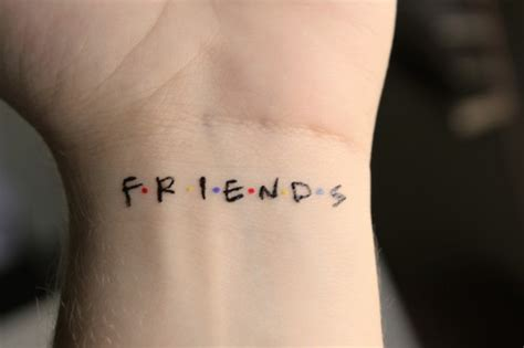 best friend wrist tattoos friends wrist color wrods characters tattoos
