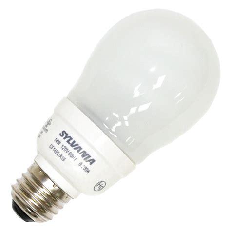 sylvania fluorescent light bulbs sylvania 29680 cf14ela19rp pear a line base