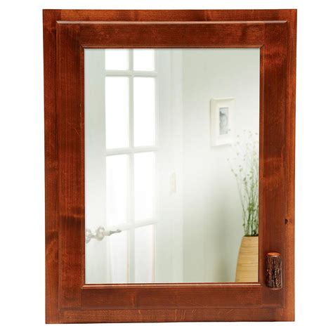 pine medicine cabinet with mirror birch twig and pinecone mirror cabin place