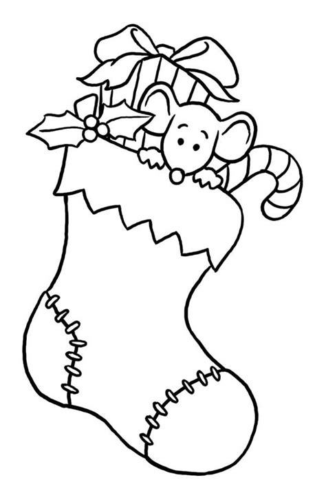 christmas stocking coloring page pertaining to encourage