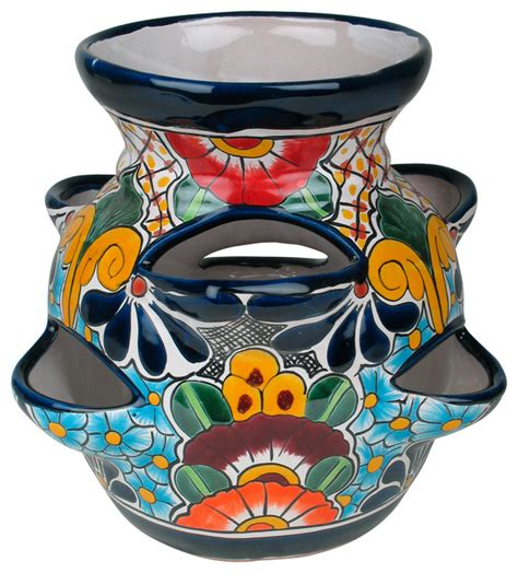 Mexican Planter by Talavera Strawberry Planter Pot Eclectic Outdoor Pots