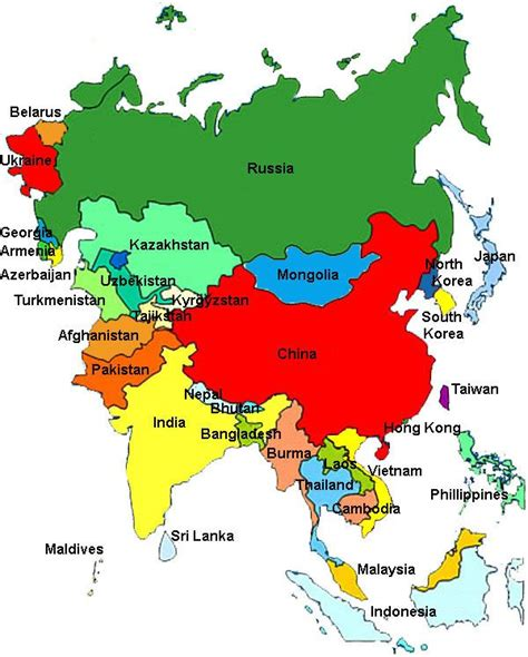 continent map with country names 17 best ideas about asia continent on