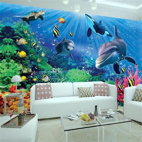 Walpaper Dinding Blue Dolphin Small Ay7177 Stiker Dinding Wall 19 Best Mural Water Images On Murals Wall