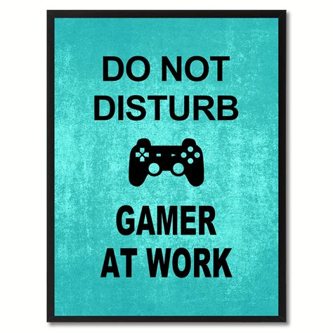 Do Not Do This At Home by Don T Disturb Gamerfunny Sign Wall Home Decoration