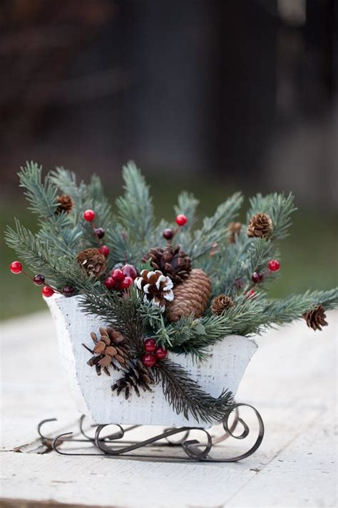 sleigh centerpiece christmas pinterest
