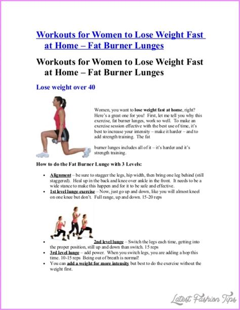 10 Ultimate For Losing Weight Fast by 10 Best Exercises For Weight Loss Fast Latestfashiontips