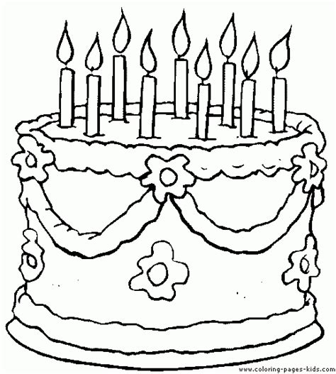 coloring pages for birthday cake birthday color page free printable coloring sheets for kids