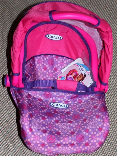 graco baby doll car seat graco 3 in 1 doll travel car seat with canopy purple and