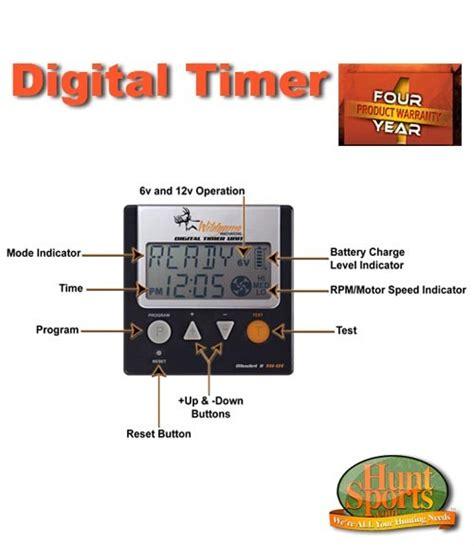 Digital Deer Feeder Timer Deer Feeder Timer Simple Set Digital 6v Or 12v Ez Set