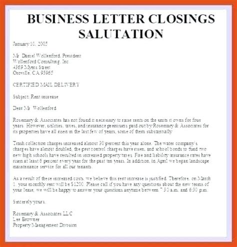 Business Letter Closings List salutations for letters exle of a informal friendly