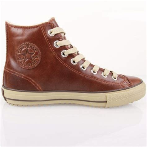 mens brown leather converse boots converse leather boot mid lining pinecone brown 134478c