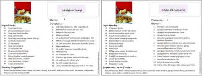 the gab housewife chronicles bilingual recipe cards english spanish update
