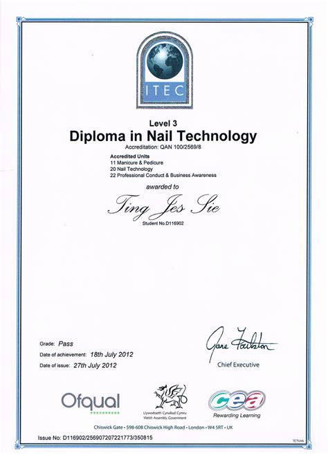 Diploma Nail finally itec nail diploma qualified award winning