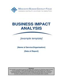 Business Impact Analysis Template Xls by Business Impact Analysis Template 5 Free Templates In