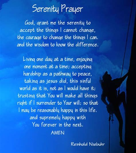 full version of serenity prayer the serenity prayer long version serenity prayer