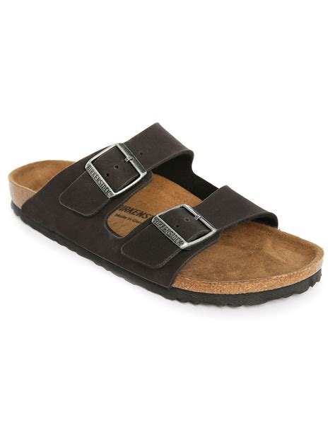 faux leather sandals birkenstock arizona faux leather sandals in gray for