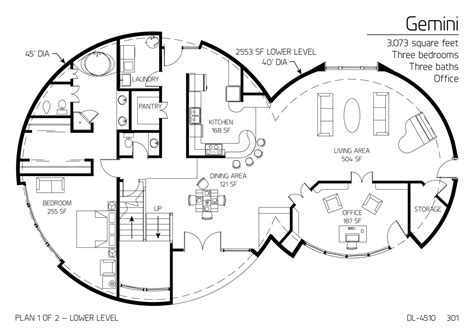 dome homes plans floor plan dl 4510 monolithic dome institute