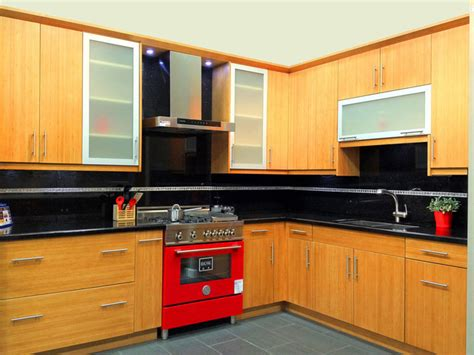 Flat Door Kitchen Cabinets by Bamboo Flat Panel Kitchen Cabinets