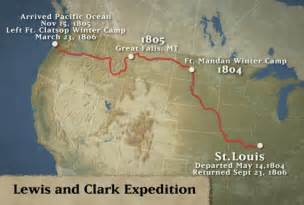 Lewis And Clark Route Map by Documentary Video