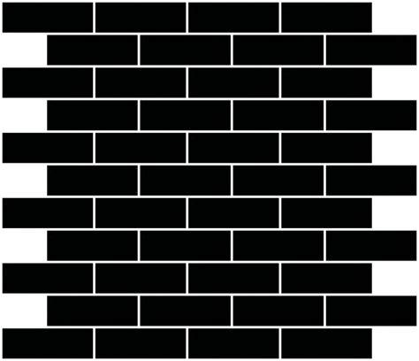 brickwork layout 1x3 inch black mirror glass subway tile reset in running