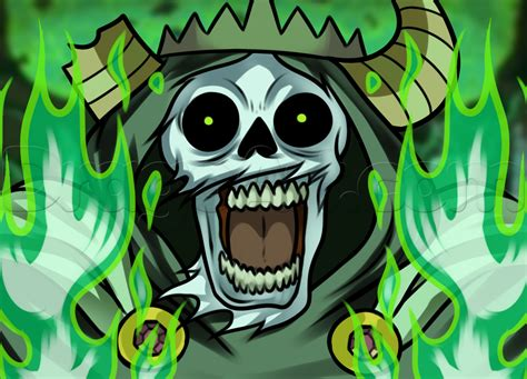 How to Draw the Lich From Adventure Time, Step by Step