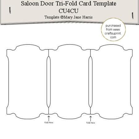 fold out cards template saloon door tri fold card template 1 cu4cu designer