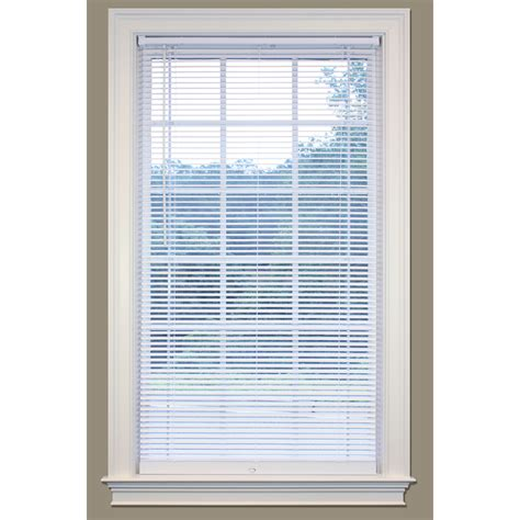 Vinyl Mini Blinds Shop Safetrac 1 In Cordless White Vinyl Room Darkening