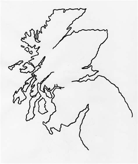 Scottish Outline by Outline Of Scotland Map Junglekey Image