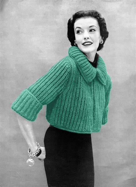 knitting vintage the vintage pattern files 1950s knitting chunky knit
