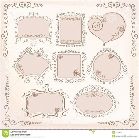 doodle frame vector free vector doodle frames collection royalty free stock