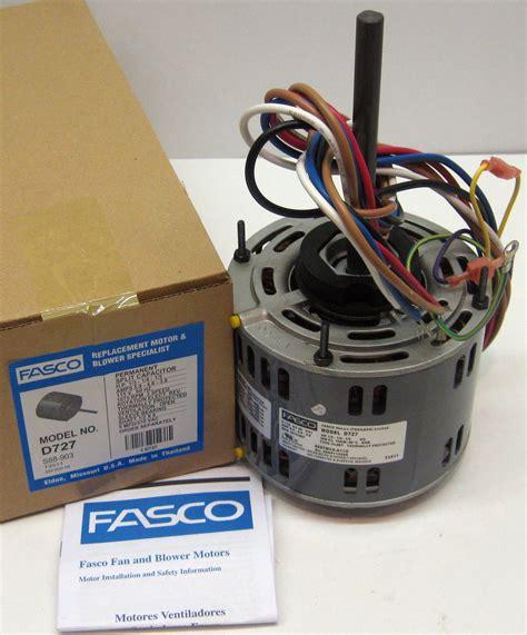 furnace blower fan motor d727 fasco 1 3 hp 1075 rpm 115 v 3 speed furnace blower