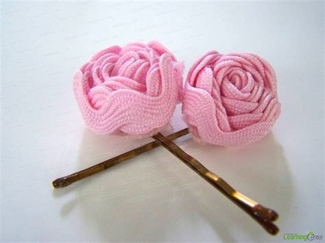 how to make hair jewelry ribbon flower hair pins family crafts