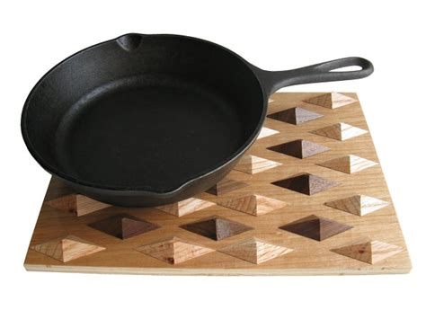 Kitchen Trivets by Wood Meets Geometric Design In One Of Today S Top Trends