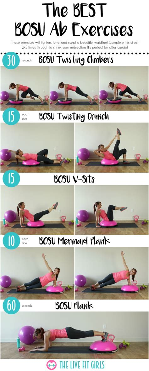 best mid section ab exercises the best bosu ab workout bosu exercises for abdominals