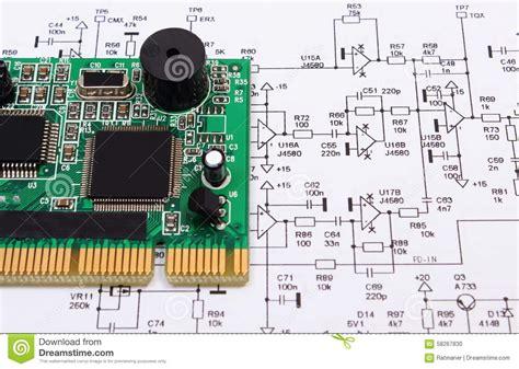 diagram of a circuit board circuit board diagram royalty free stock image