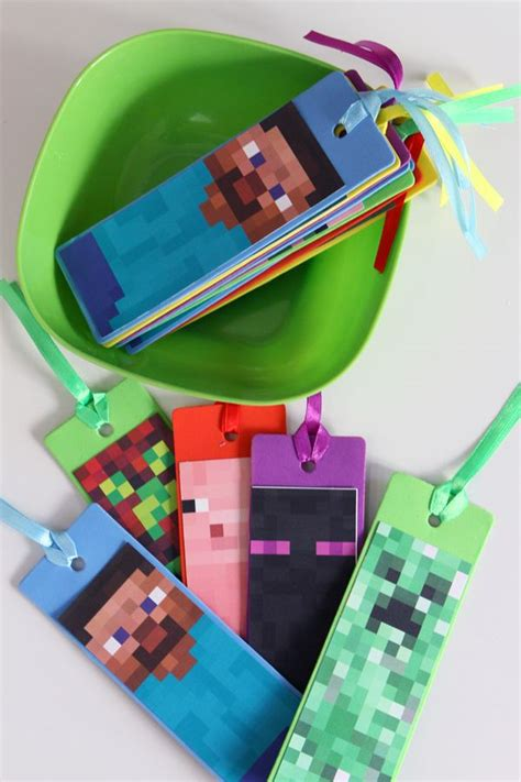 minecraft bookmark template 25 best ideas about minecraft favors on