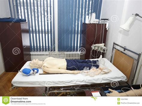 bed medicine doll patient hospital medicine education stock photography