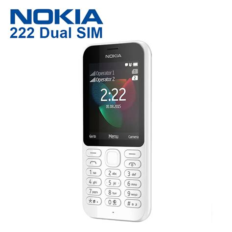 Hp Nokia Termurah Dua Sim jual hp nokia 222 dual sim white official sentraponsel