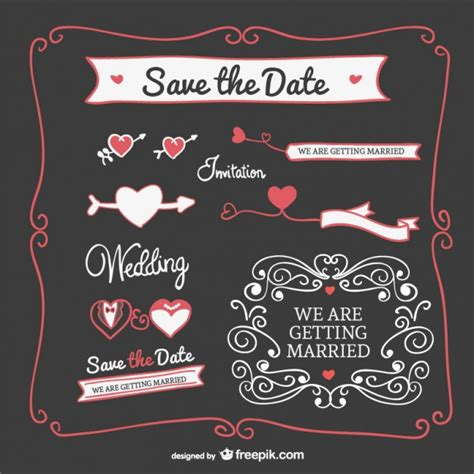 Wedding Invitations Graphics by Wedding Invitation Graphics Elements Vector Free
