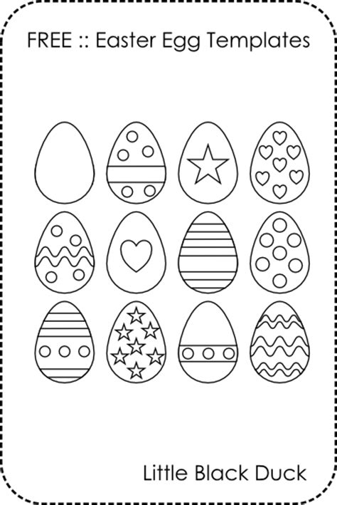 small easter egg template free easter egg templates black duck