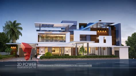 exterior view architectural visualization india 3d power