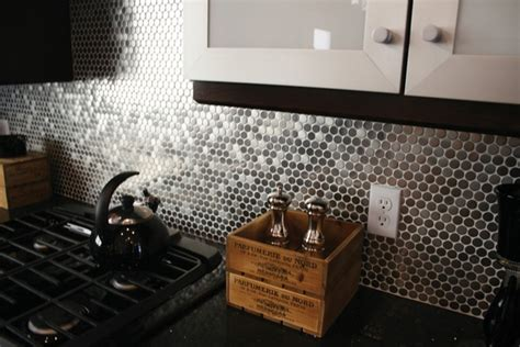 penny tile kitchen backsplash why a penny backsplash is an unique accent in the kitchen