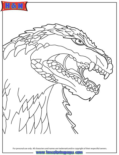 big godzilla monster head coloring page h m coloring pages