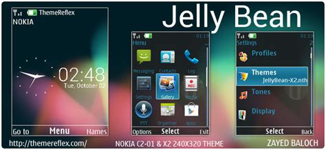 themes nokia c2 residence jelly bean ux theme for nokia x3 c2 01 x2 01 240 215 320