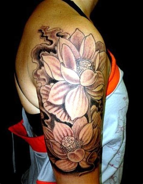 lotus tattoo half sleeve body tattoo body piercing body painting
