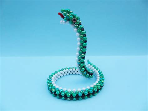 3d beading items similar to beaded snake 3d beaded animal figurine