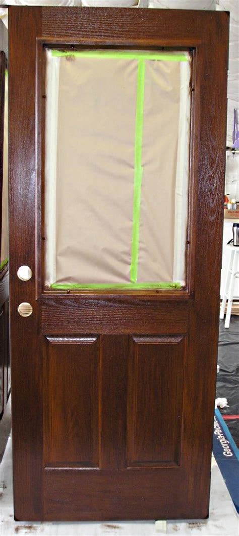 How To Stain A Fiberglass Exterior Door Staining A Fiberglass Door The Practical House Painting Guide